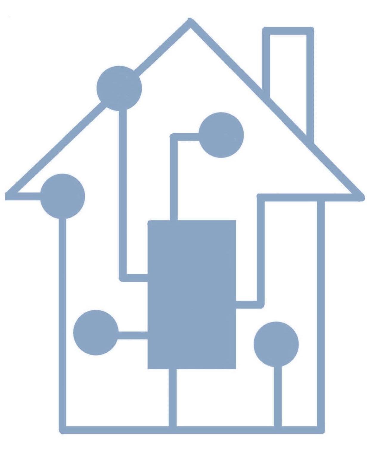 Maison connectee bleue